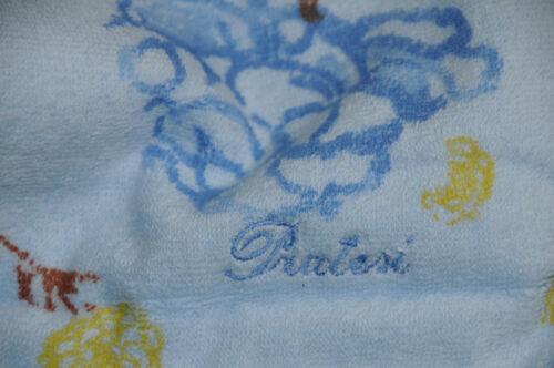 "NEW PRATESI YELLOW BEIGE BLUE ROSES HAND TOWEL Exquisite 14/"" x 21/"" $275"