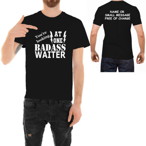 Badass Waiter  T-shirt  Funny Ideal Father day Birthday Gift for Him