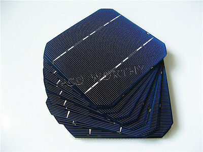 5x5 Mono Solar Cells Kit 125x125MM High Power for DIY Solar Panel 2.6W/pc Gift