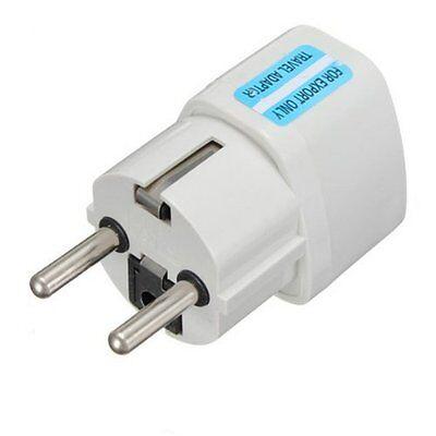 Universal UK/US/AU to EU European AC Power Plug Travel Wall Adapter Converter