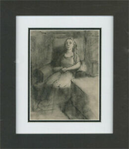 Peter Collins ARCA - 20th Century Pen and Ink Drawing, Seated Figure