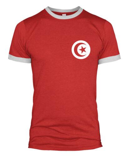 Tunisia Retro Football T Shirt Badge World Cup National Team 2018 Russia UK L254