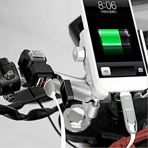 Wasserdichte Dual USB 12V Motorrad Lenker Ladebuchse mit Schalter und Halte CBL