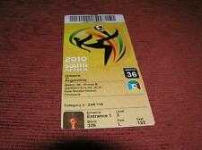 MUNDIAL SOUTH AFRICA 2010 GREECE ARGENTINA 0-2 TICKET 36 Soccer World Cup  MUNDI