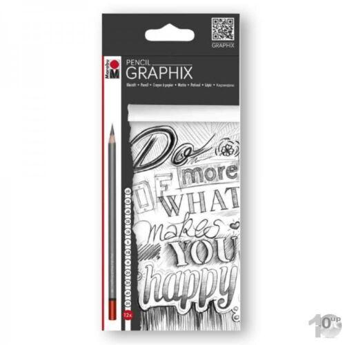 Marabu Bleistift Pencil GRAPHIX 12er Karton-Etui