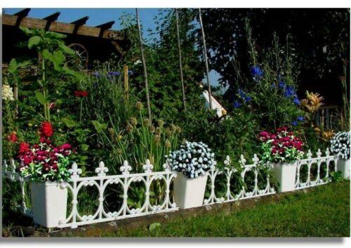 Zierzaun 5 Elemente 33x60cm  3Meter Beeteinfassung Garten Zaun Spalier