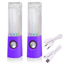 Fuente de música de aguas danzantes con purplel Ed Luz Altavoz para Teléfonos Ipad Computadora portátil MP3