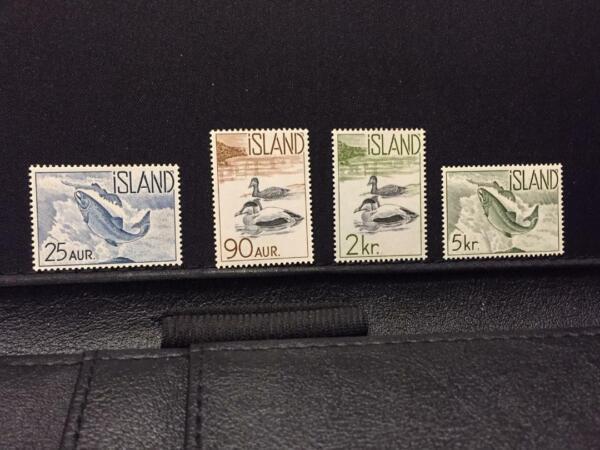 1959-60 Islande Canards/saumon Sc # 319-322