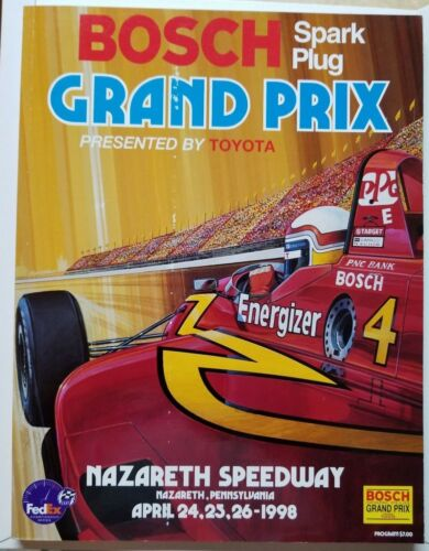 /'98 Bosch Grand Prix Nazareth Pennsylvania Speedway Program Presented By Toyota