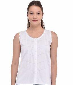 da Top cotone in bianco donna wAtOSqxt