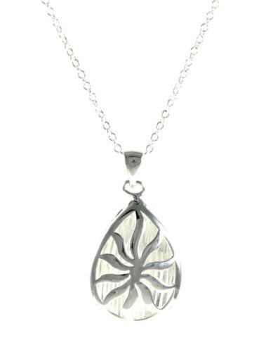 Damen Medaillon Sonne Halskette Silber mit Anhänger Geschenk Set Ø 30mm