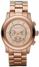 New Michael Kors MK8096 Rose Gold Plated Stainless Steel Mens Watch