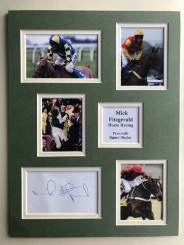 "Horse Racing Mick Fitzgerald Signed 16"" X 12"" Double Mounted Display"