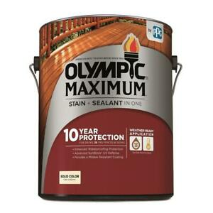 Olympic Maximum Stain And Sealant Solid Color White Base 1 715195994255 Ebay