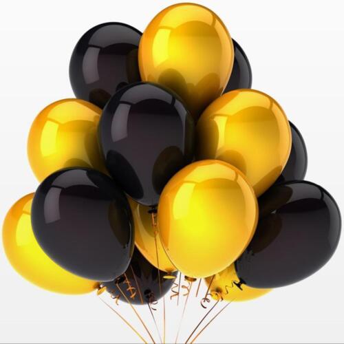 10-100 globos de látex Feliz Navidad Oro Plata Negro Decoración Helio Balones
