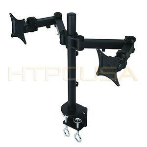 Dual Led Lcd Monitor Desk Mount Stand For Samsung Acer Lg