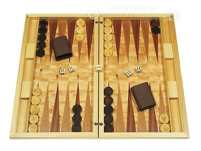 "21"" Dal Negro Wood Backgammon Set - Poplar Root, Classic Board Games"