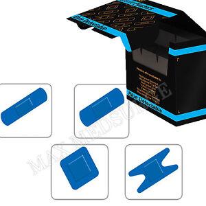 pflaster selbstklebend blau erste hilfe wasserfest gemischt 100 st ck 20er pack. Black Bedroom Furniture Sets. Home Design Ideas