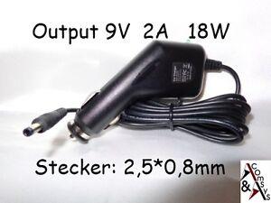 KFZ-Netzteil-PKW-Ladegeraet-Ladekabel-9V-2A-Android-Tablet-PC-CAR-Adapter-2-5x0-8