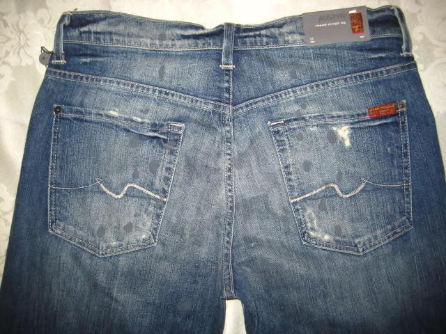 7 for All Mankind Austyn Relaxed Straight Leg Jeans 3x34 NWT STPN ATA046525