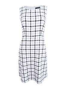 Nine-West-Women-039-s-Plaid-Dress
