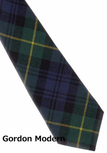 Tartan Tie Clan Gordon or Pocket Square Scottish Wool Plaid