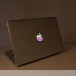 "80s' Apple Rainbow Logo Transparent Sticker MacBook Air 11"" 13"" Light up Version"