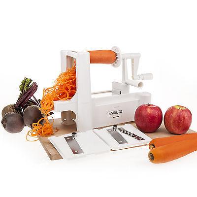 Savisto Tri Blade Vegetable Fruit Spiralizer Spiral Slicer Cutter and Chopper