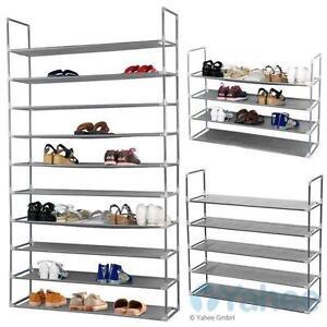10 schicht schuhregal regal f r 50 paar schuhe schuhablage schuhst nder ebay. Black Bedroom Furniture Sets. Home Design Ideas
