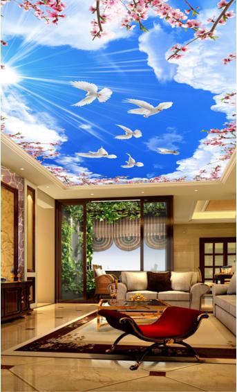 3D Flor De Palomas cielo 5 Impresión Impresión Impresión de Papel de Pared Techo Pared Interior murales CA Carly b2f9cf