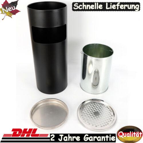 30L Standaschenbecher Aschenbecher Mülleimer+Inneneimer Innen//Außen Edelstahl DE