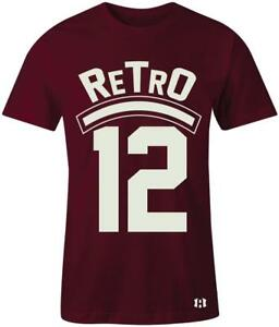 034-Retro-12-034-T-Shirt-to-Match-034-Bordeaux-034-12-039-s