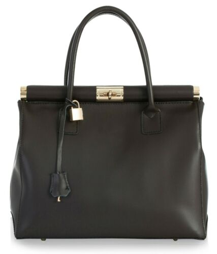 Damen 100/% Original Italienisches Leder Top Griff Schultertasche Handtasche L