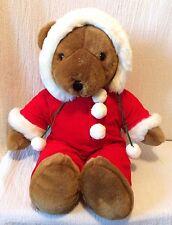 "22"" Plush Allied Stores Teddy Bear Red Corduroy Onesie Pajamas Christmas"