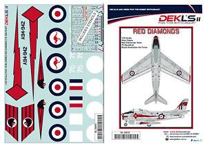 1-32-Avon-Sabre-RAAF-039-Red-Diamonds-039-Aerobatic-Team-Decals-DEKL-039-s-II