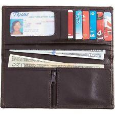 Women Chocolate Brown Leather Wallet, Bifold Ladies Clutch ID Credit Card Holder