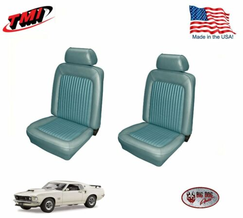 Light Blue Front Bucket Seat Upholstery for 1969 Mustang TMI Made in the USA