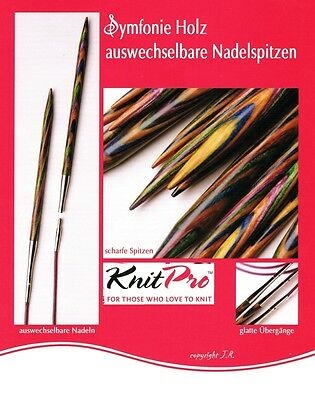 KnitPro austauschbare Nadelspitzen Symfonie Holz wechselbare Spitzen stricken