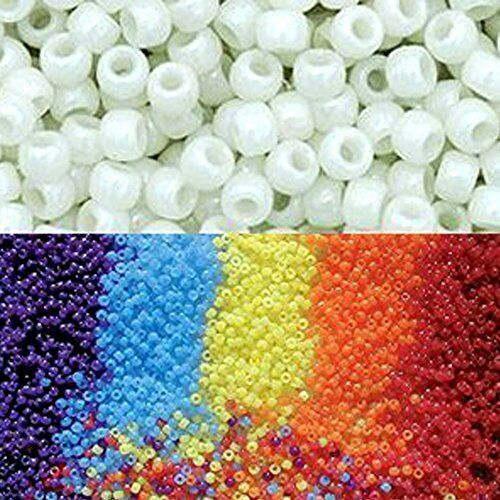 Goodlucky 365 scientifique Multi Color UV perles Changing Reactive Plastic Pony Bea