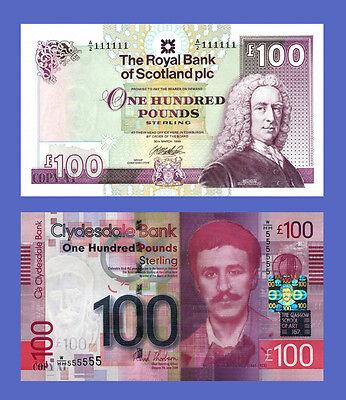 UNC condition, Bank of Scotland £100 banknote