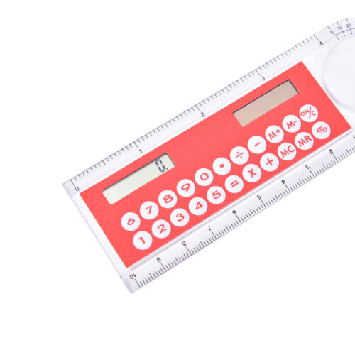 3in1 Mini Solar Power Taschenrechner 10cm lange Lupe mit Huler Funktion   ST