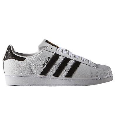 Adidas Superstar Bianco Nero Animal Sneaker Uomo-mostra Il Titolo Originale