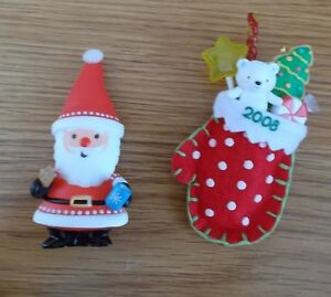 Details About 2 Hallmark Keepsake Ornaments Cookies Cocoa For Santa A Christmas Surprise