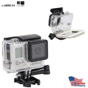 GoPro-Hero-3-3-Hero-4-Underwater-Waterproof-Dive-Case-Housing-Transparent-Stand