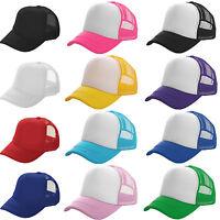 Men Women Trucker Mesh Baseball Cap Snapback Adjustable Sports Golf Summer Hat