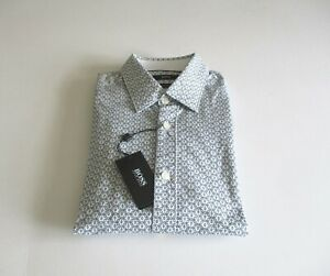HUGO BOSS Bustai regular fit cotton shirt in dark red with spots