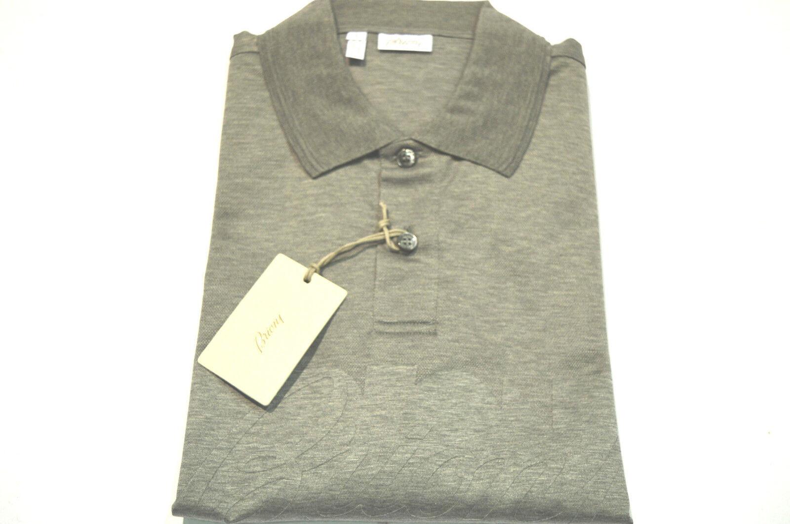 NEW  BRIONI Polo  Short Sleeve Cotton Größe XL Us Eu 54 (SpstampB)