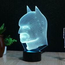 3D LED Night Light Batman Touch Swift Table Desk Lamp Superhero 7 Color Kid Gift
