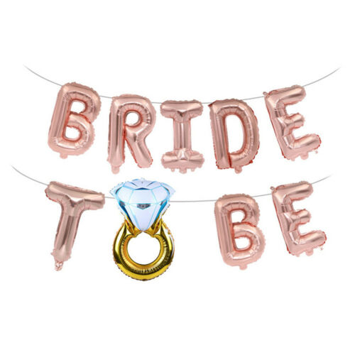 16/'/' Bride to be Letter Foil Balloons Diamond Ring Balloon For Wedding Party HNV