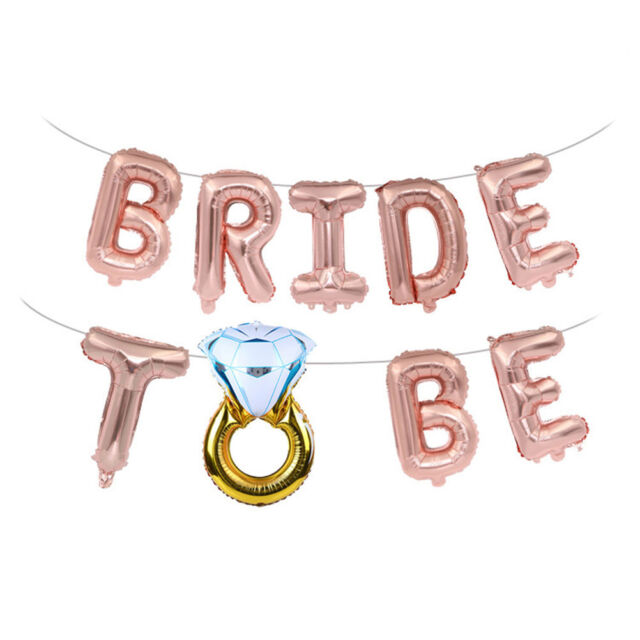 16inch Bride to be Letter Foil Balloons Diamond Ring Balloon For Wedding ParWP5